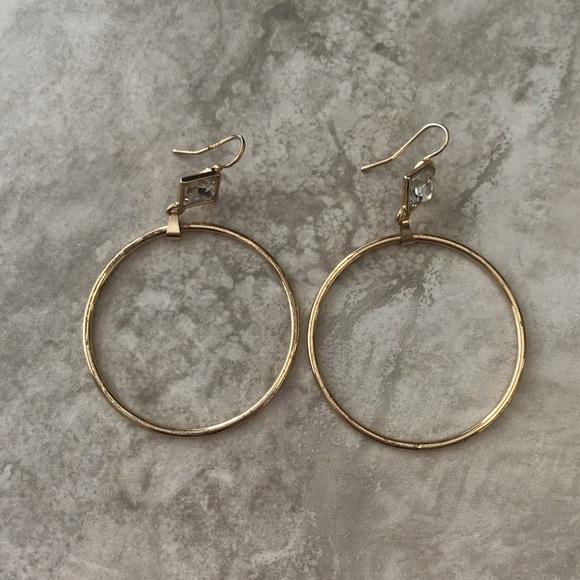 Jewelry - Drop Hoop Earrings